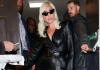 Lady Gaga showed some skin at a London pub